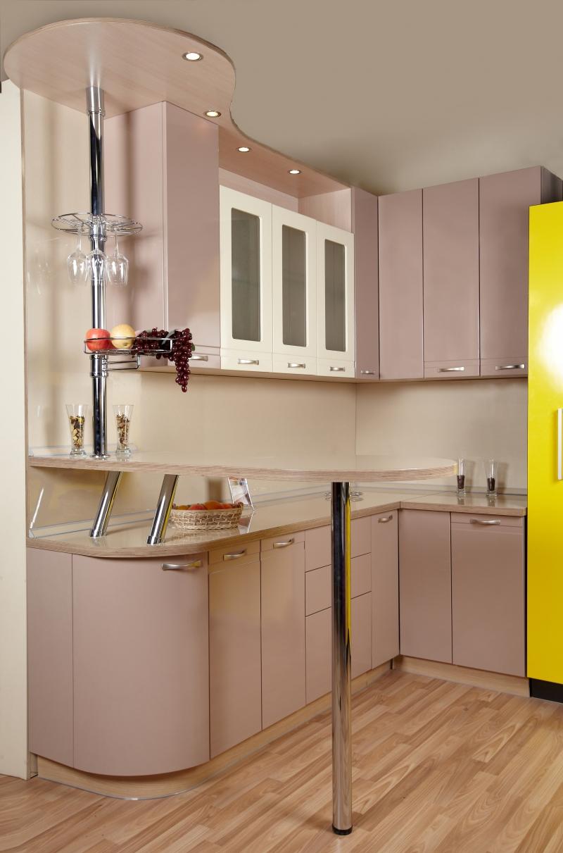 кухня капучино глянец фото